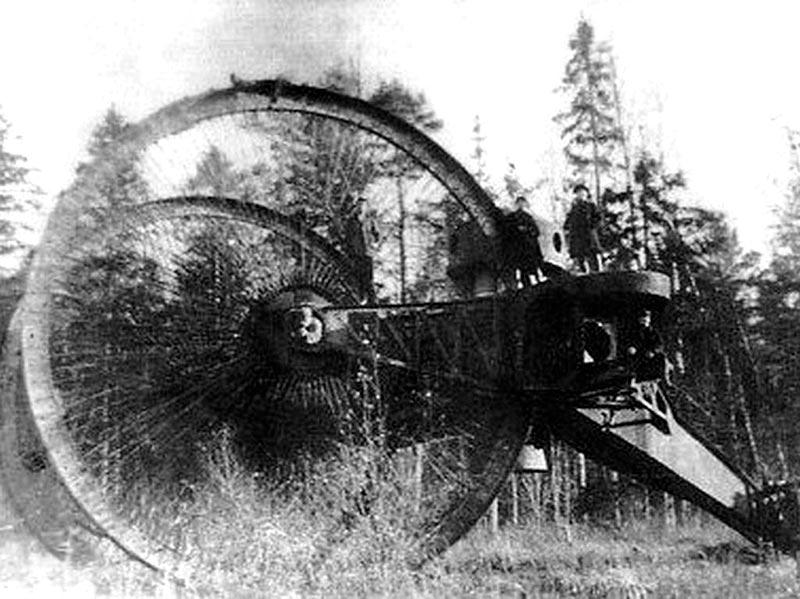 Царь-танк во время испытаний