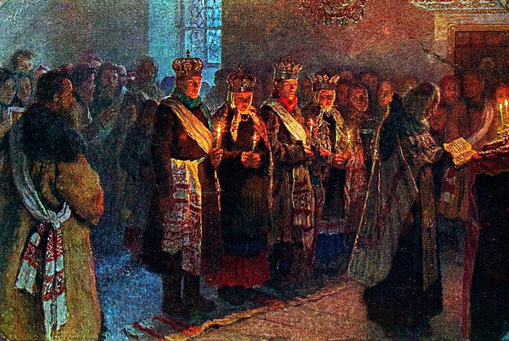 Картина Венчание. Н. Богданов-Бельский