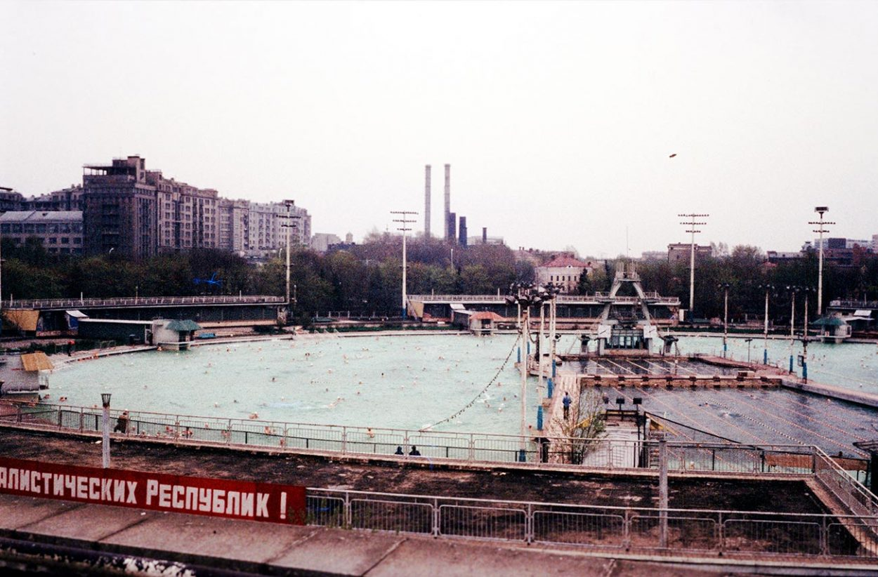 Самый большой открытый плавательный бассейн в СССР