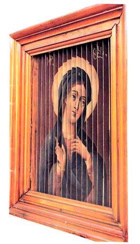 Трёхликая икона Благовещение. Господь Саваоф