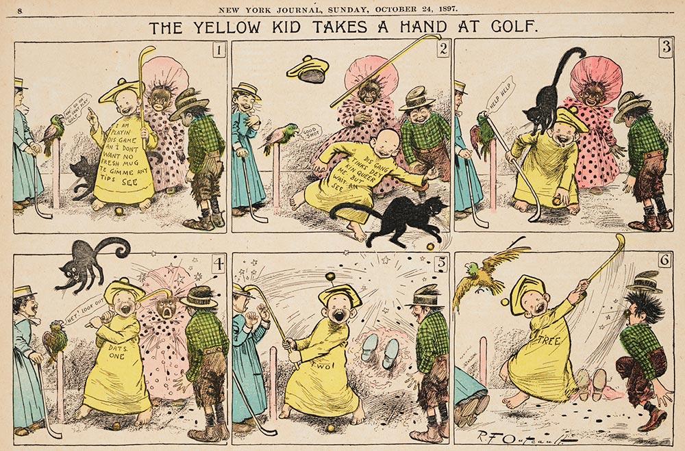 Комикс про жёлтого малыша