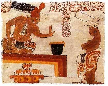 Жрец майя запрещает простолюдину дотрагиваться до напитка из какао