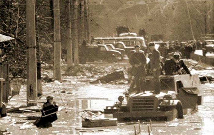 Последствия потопа в Куренёвке, 1961 год