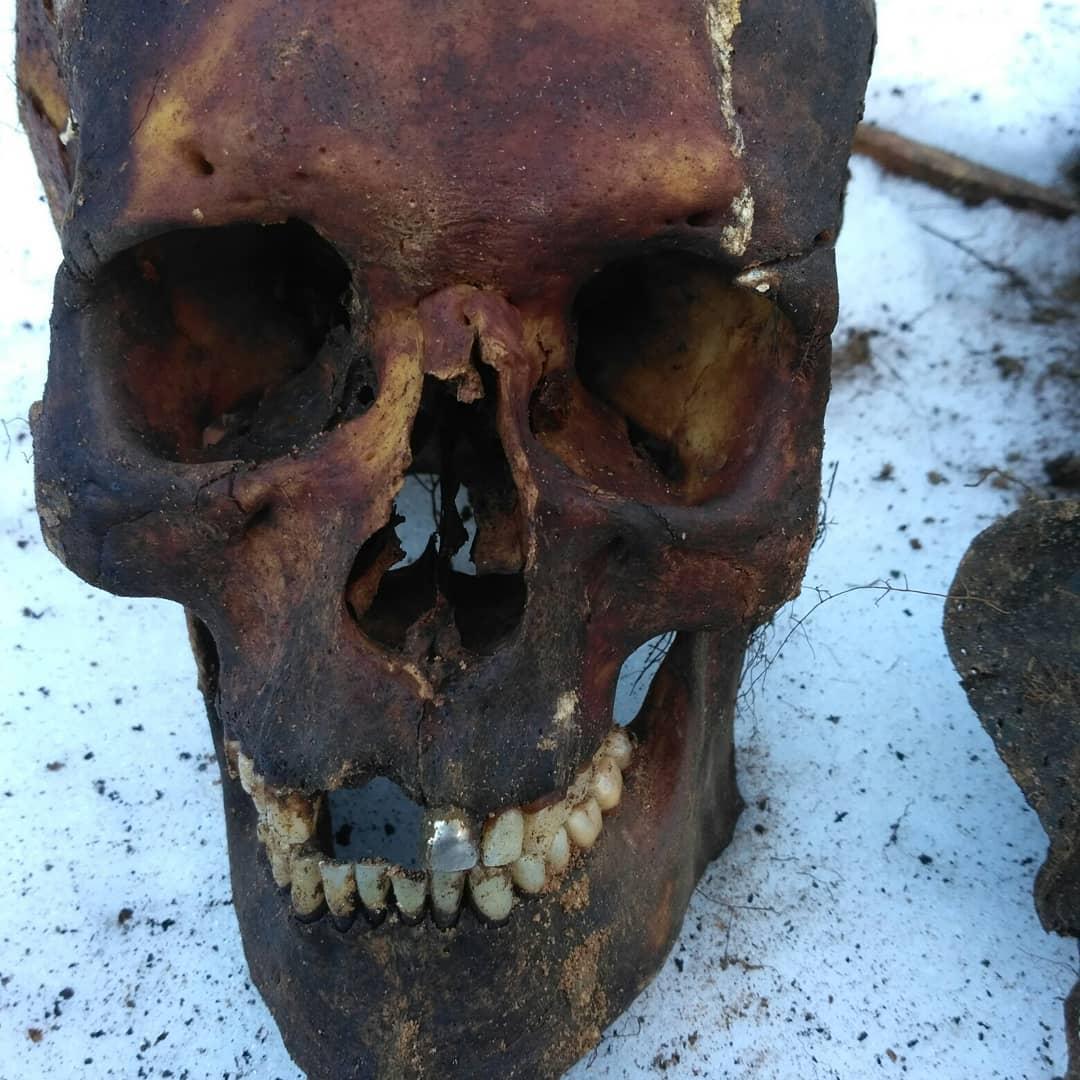 Найденные во дворе останки людей