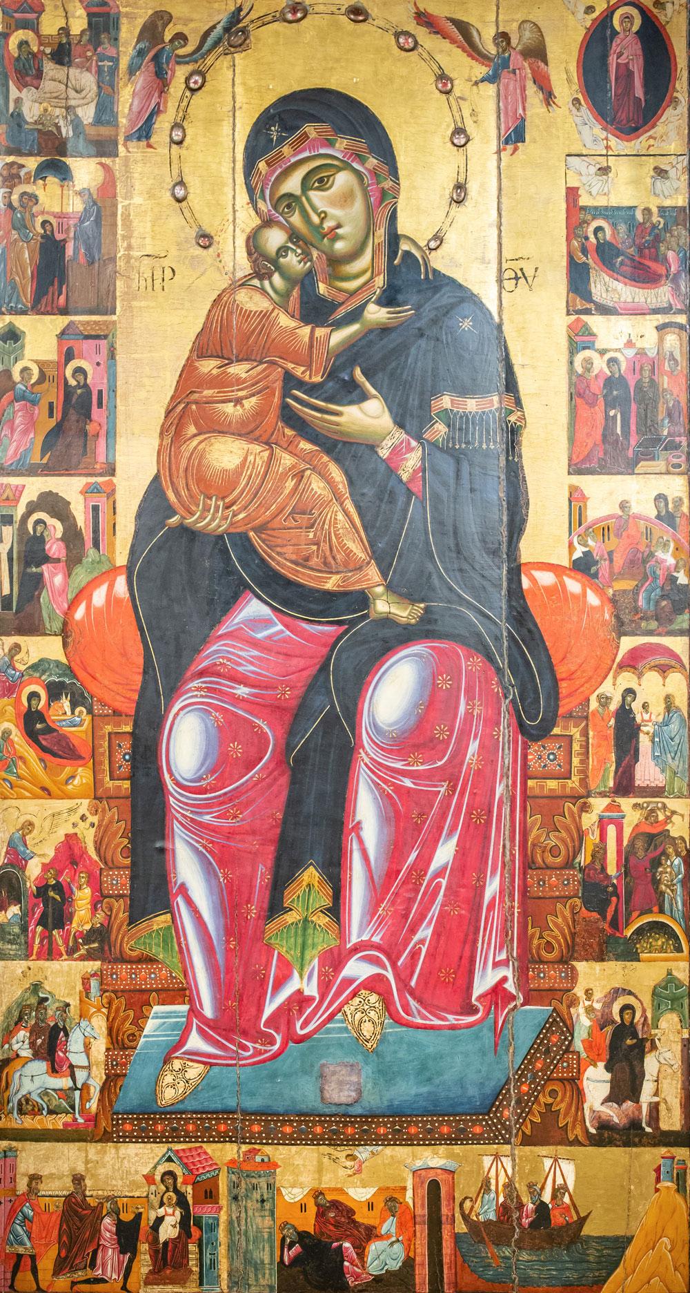 «Мадонна с младенцем на троне». Коппо ди Марковальдо.