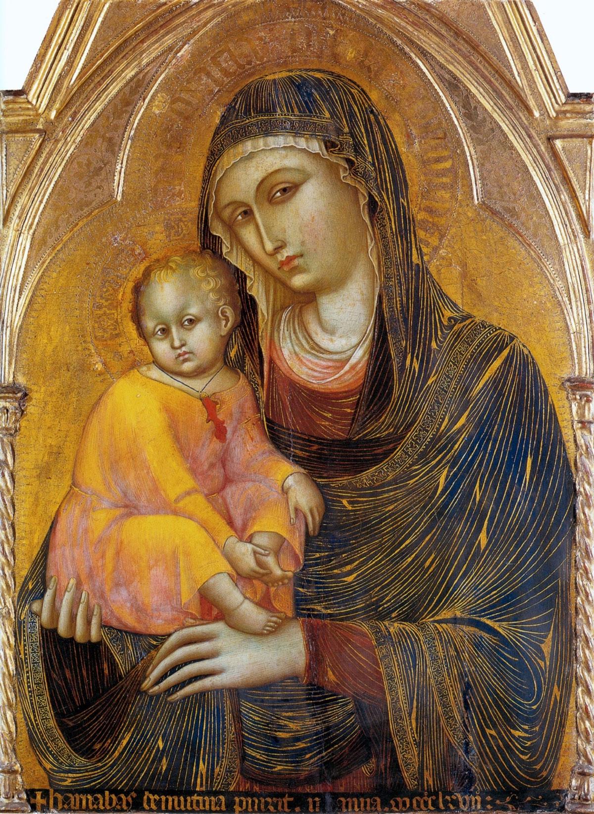 «Мадонна с младенцем». Барнаба да Модена.