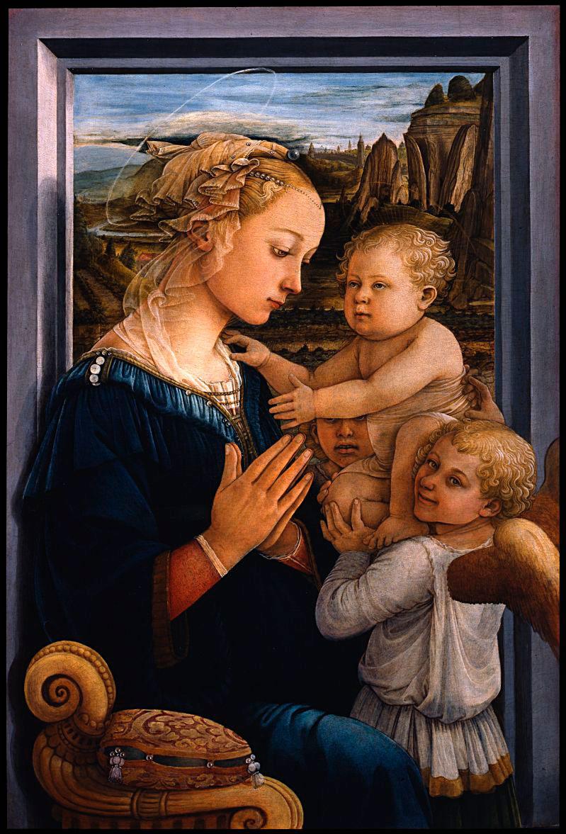 «Мадонна с младенцем и двумя ангелами». Филиппино Липпи.