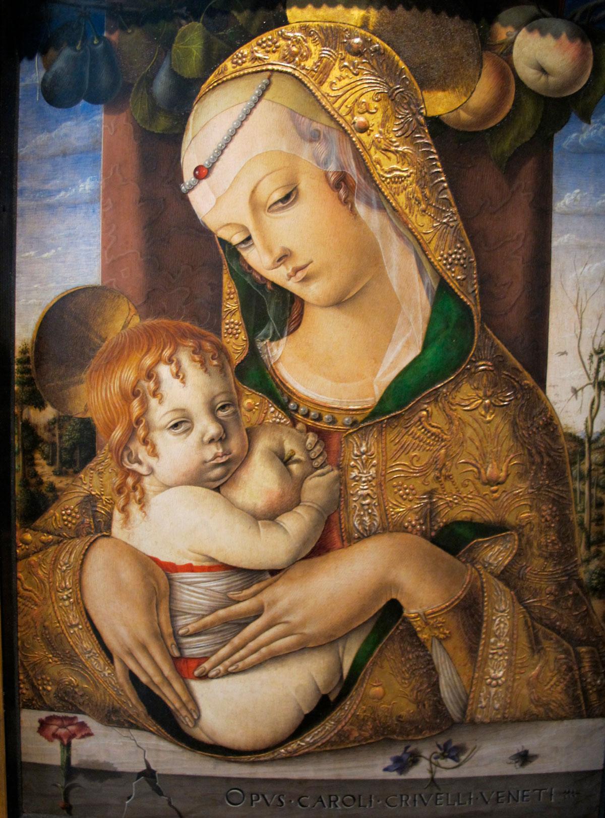 «Мадонна с младенцем». Карло Кривелли.