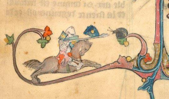 Рыцарь против маленькой улитки