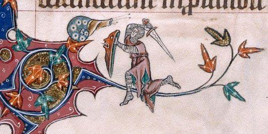 Рыцарь и улитка в средневековье
