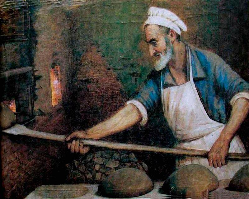 Картина <nobr>Пекарь</nobr>. Ю. Пэн» class=»wp-image-223932″/><figcaption>«Пекарь». Ю. Пэн</figcaption></figure></div>    <div class=