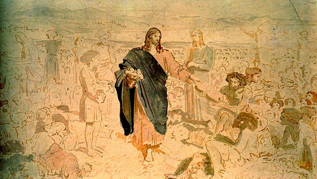 Фреска «Умножение хлебов». А. Иванов