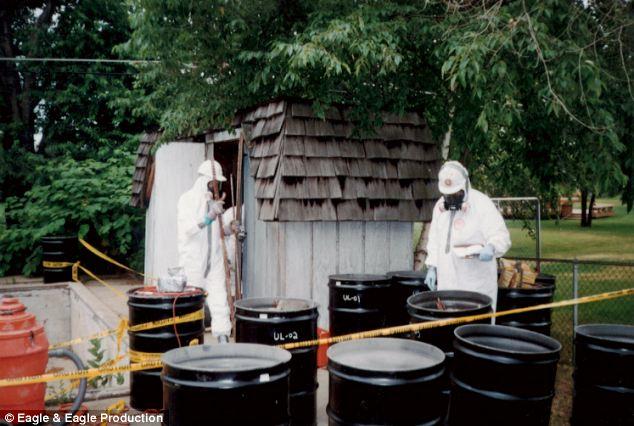Сарай, в котором Дэвид Хан проводил химические эксперименты