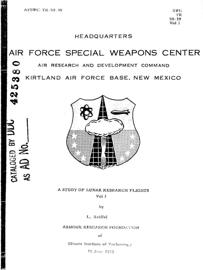 Рассекреченй план США по сбросу атомной бомбы на поверхность Луны