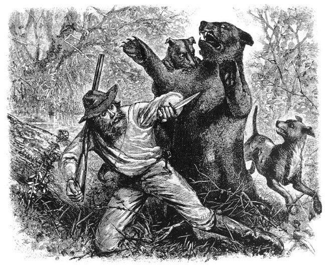Хью Гласс в схватке с медведем