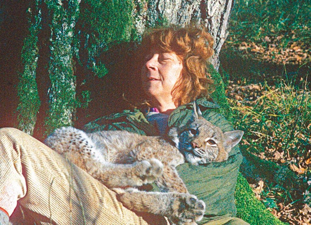 Симона Коссак с рысью Агатой