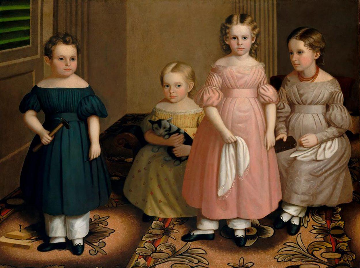 Бесполая детская одежда, 19 век.