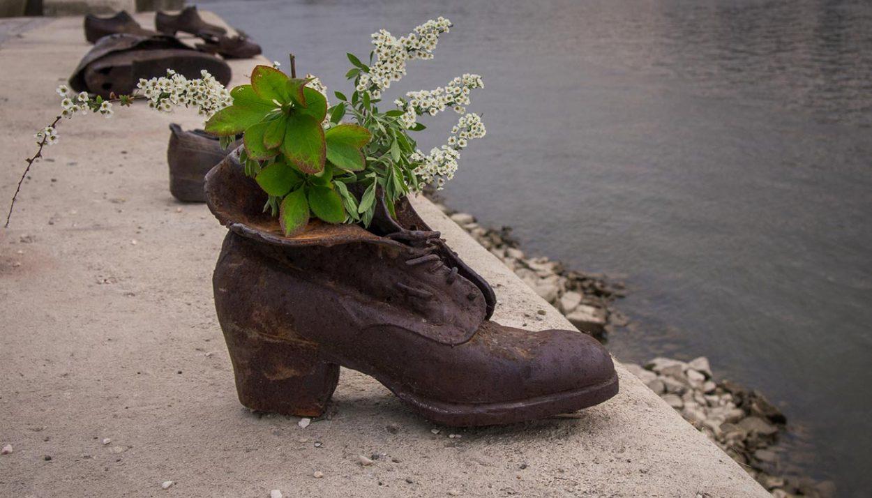 Обувь на берегу Дуная