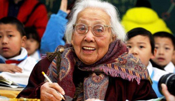 102-летняя бабушка-первоклассница Ма Сюсиань.