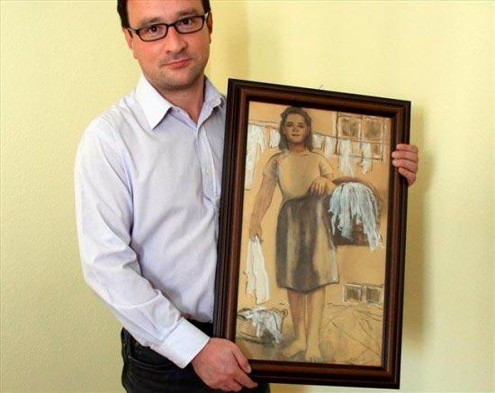 Томаш Урынович и его невеста — картина