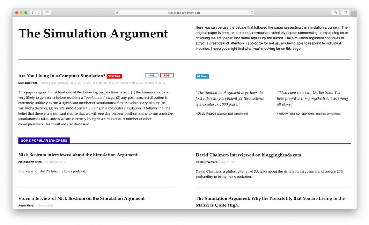 Cкриншот сайта: simulation-argument.com