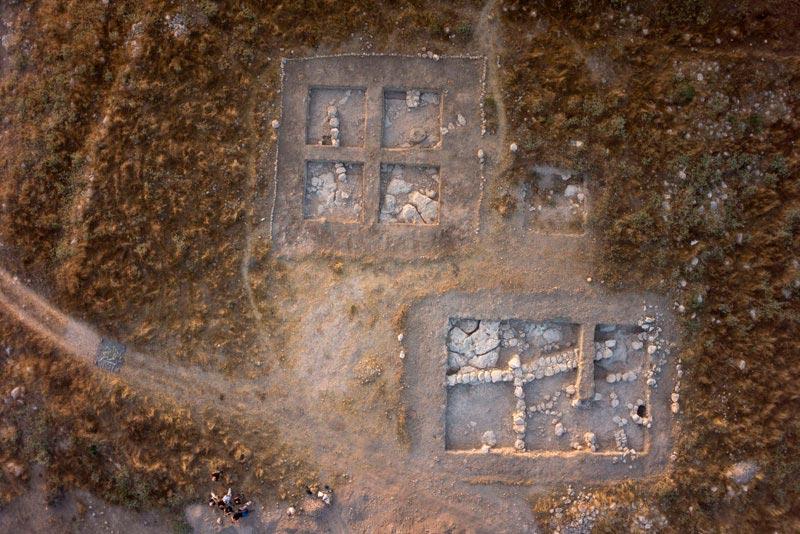 Языческое святилище древних семитов на месте раскопок в Тель Бурне, Израиль.