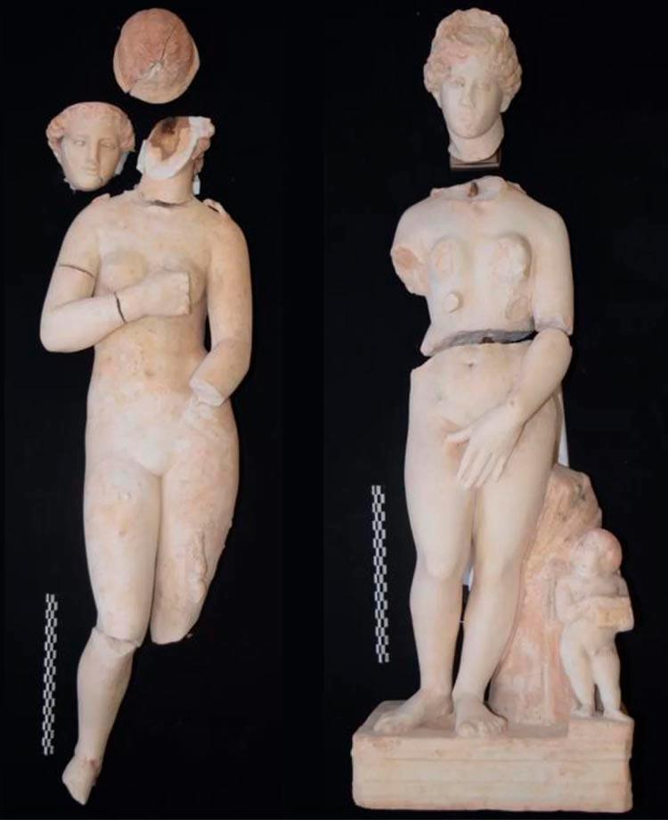 Статуи Афродиты найденные археологами при раскопках в Петре, Иордания.