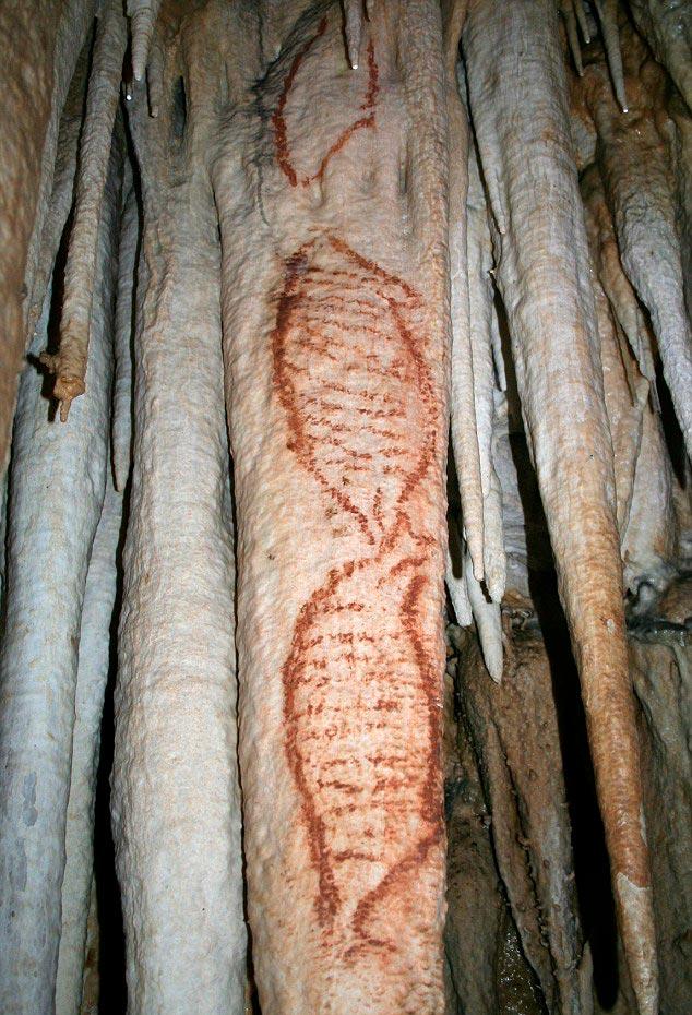 Наскальный рисунок в пещере Нерха
