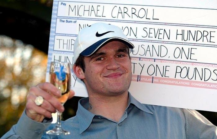 Майкл Кэрролл сорвавший джекпот в лотерею