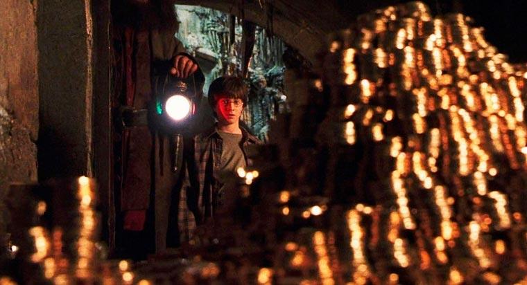 Гарри Поттер в банке «Гринготтс»