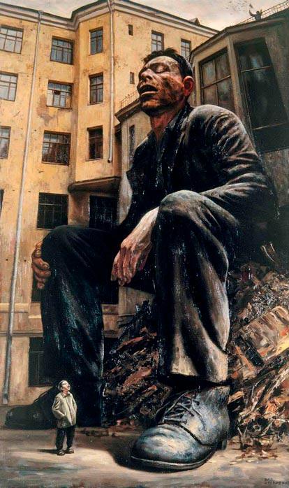 Картина «Спящий». Василий Шульженко.