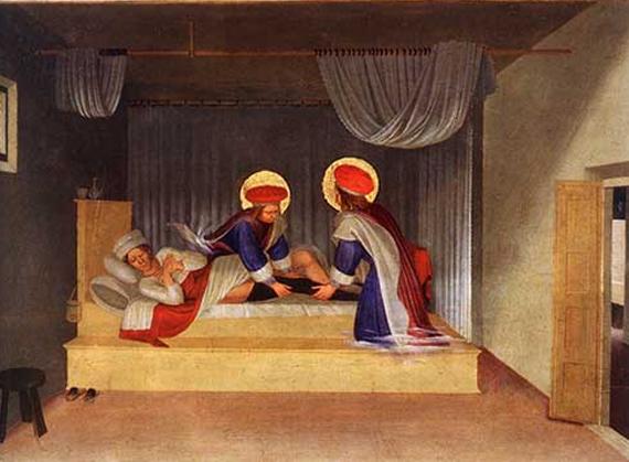 «Лечение Юстиниана святыми врачами Космой и Дамианом».  Фра Беато Анджелико, 1439 г.