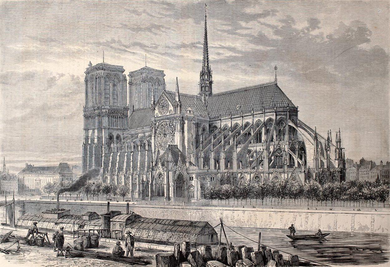 Собор Парижской Богоматери в 1860 году