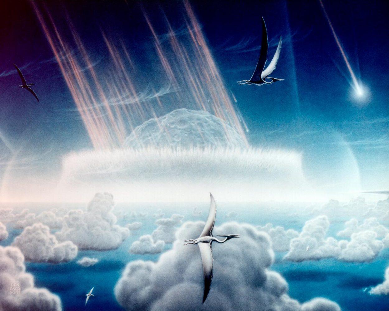 Столкновения Земли с астероидом. Художник Дональд Дэвис
