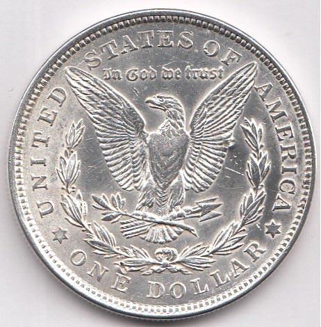 Серебряная монета номиналом в 1 доллар