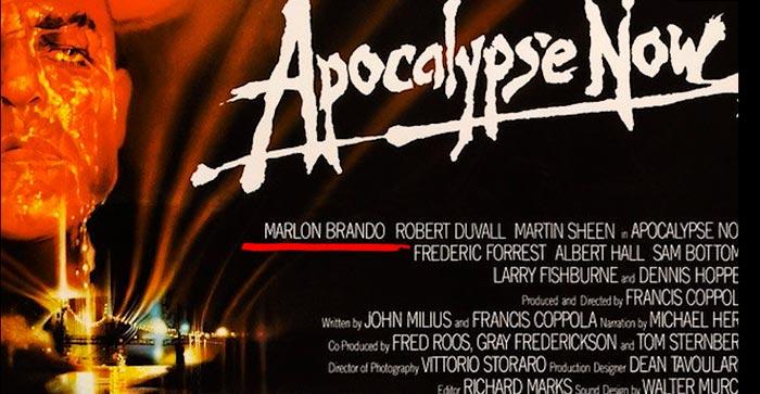Расположение имен актеров на рекламном поостере к х/ф «Апокалипсис сегодня»