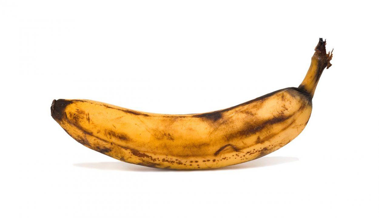 Перезревший банан