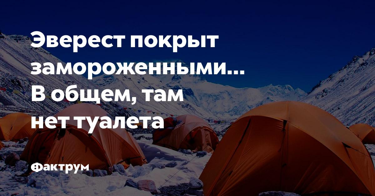 Эверест покрыт замороженными… Вобщем, там нет туалета