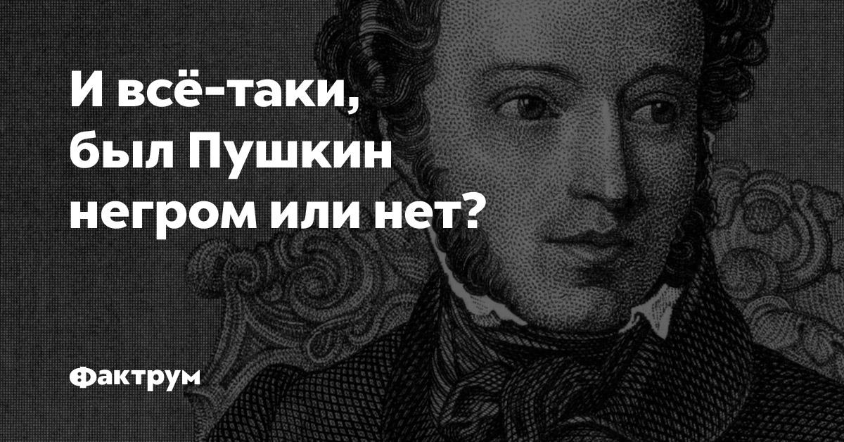 И всё-таки, был Пушкин негром или нет?