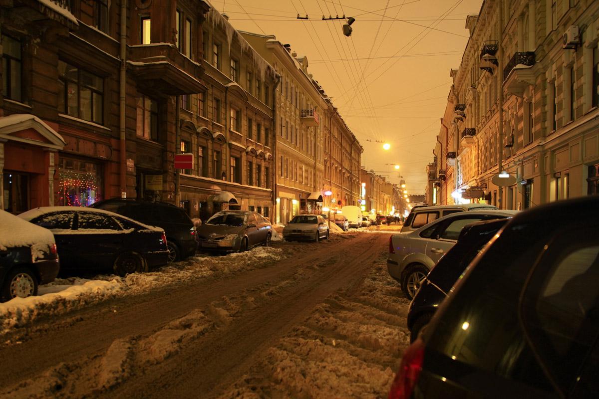 Улица Рубинштейна в Санк-Петербруге