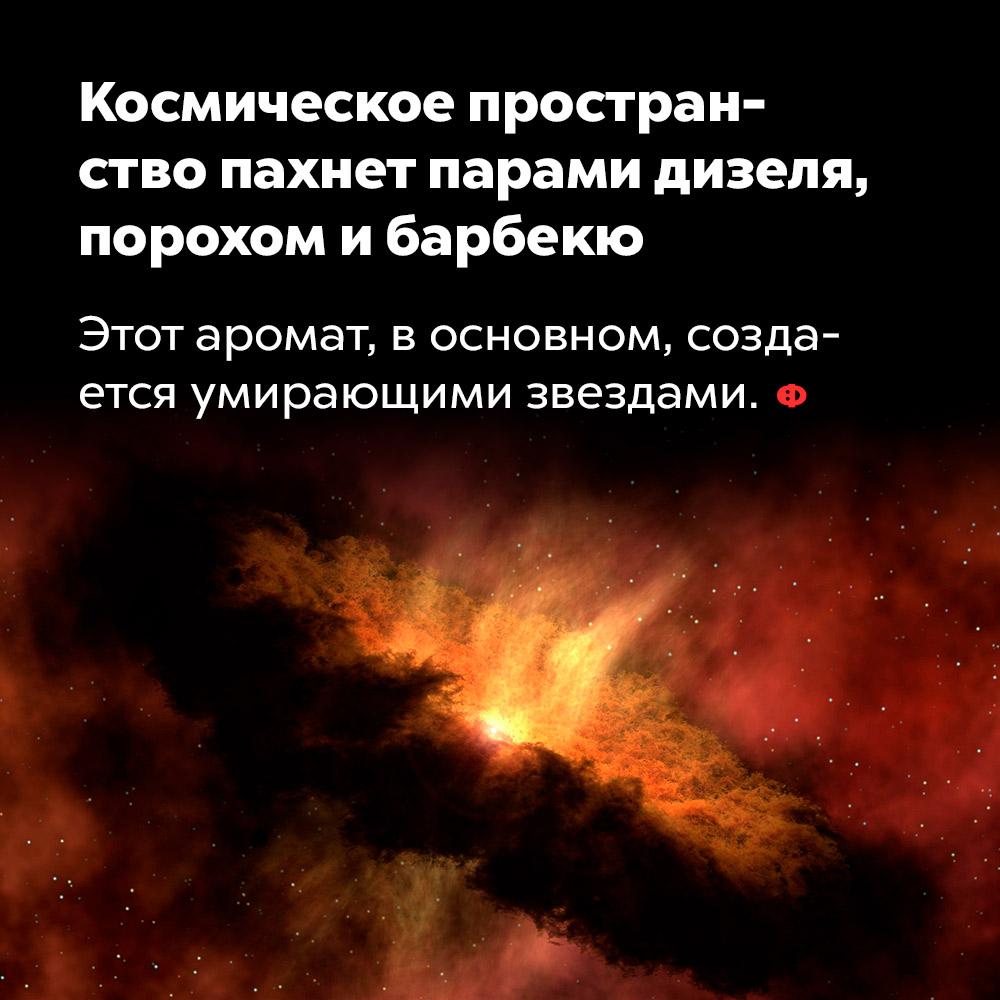Космическое пространство пахнет парами дизеля, порохом ибарбекю. Этот аромат, в основном, создаётся падающими звёздами.
