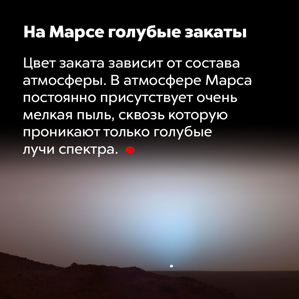 НаМарсе голубые закаты.