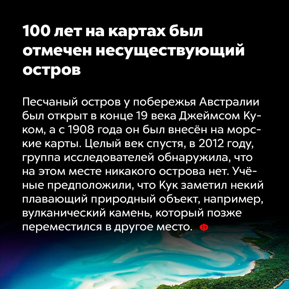 100лет накартах был отмечен несуществующий остров.
