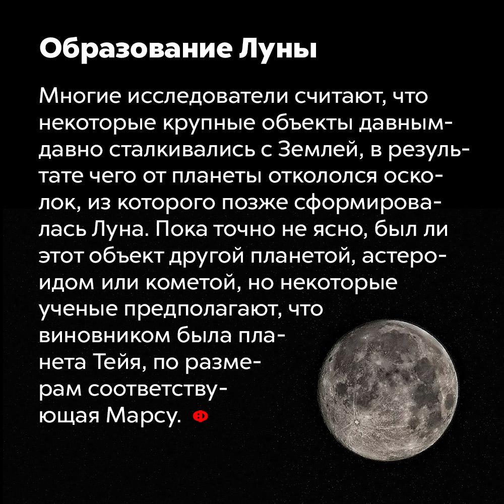 Образование Луны.