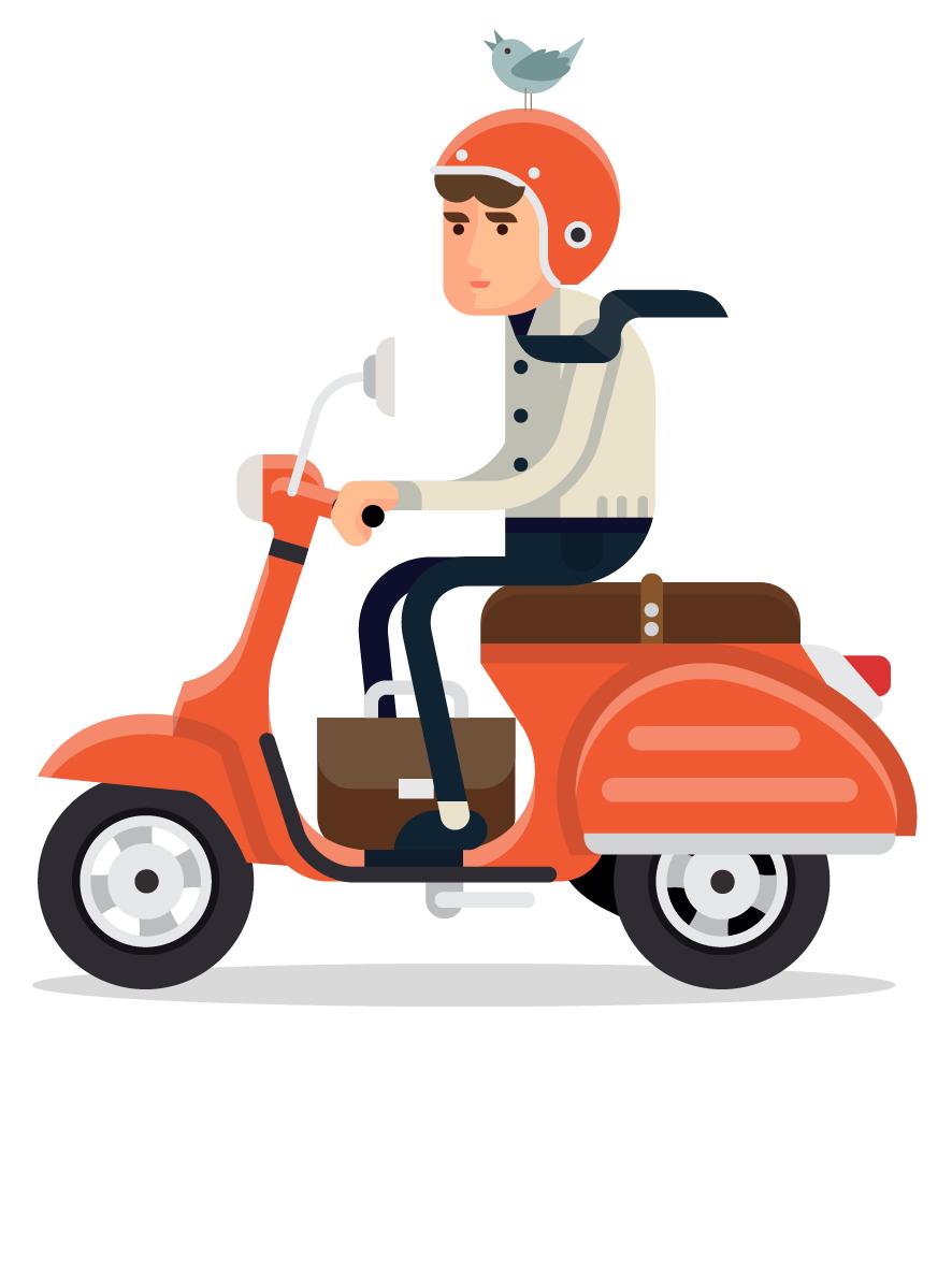 Анекдот про мотоциклиста иворобья