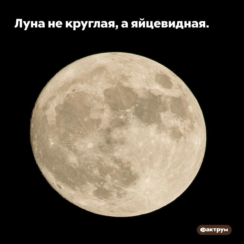 Луна некруглая, аяйцевидная. Форму идеальной сферы имеют далеко не все небесные тела.