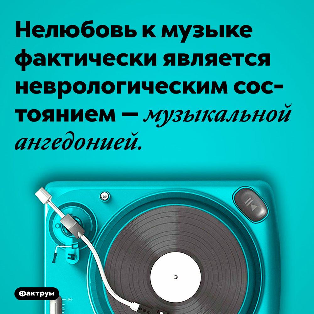 Нелюбовь к музыке фактически является неврологическим состоянием — музыкальной ангедонией.