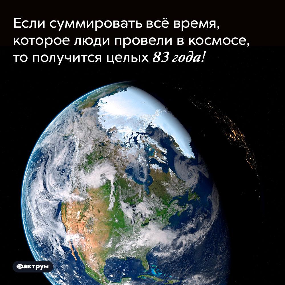 Если суммировать всё время, которое люди провели в космосе, то получится целых 83 года!.