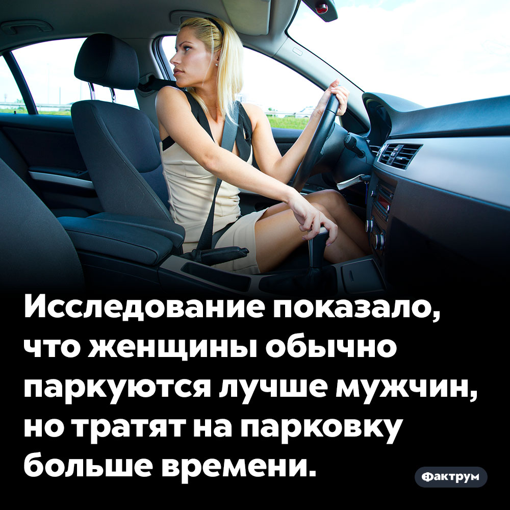 Исследование показало, что женщины обычно паркуются лучше мужчин. ...но тратят на парковку больше времени.