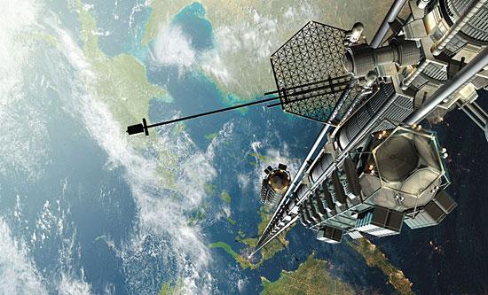 Космический лифт — это лифт, способный подниматься на высоту 100 000 км